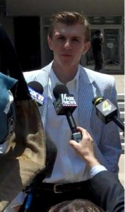 James O'Keefe at Courthouse